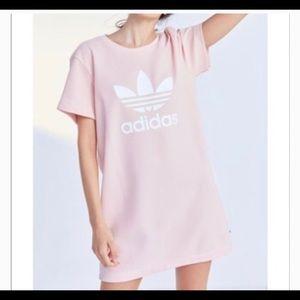Adidas pink tee dress size small